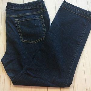 MICHAEL KORS Jeans Straight Leg Gold Stitching 12